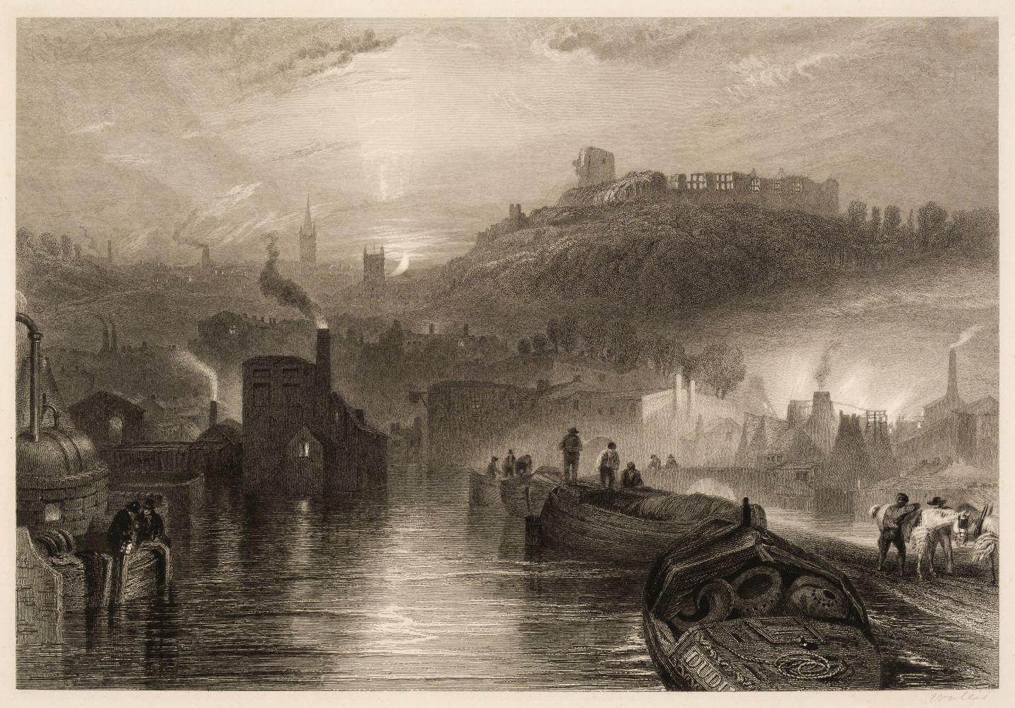 * Turner (Joseph Mallord William, 1775-1851). The Mew Stone, Entrance of Plymouth Harbour, 1815