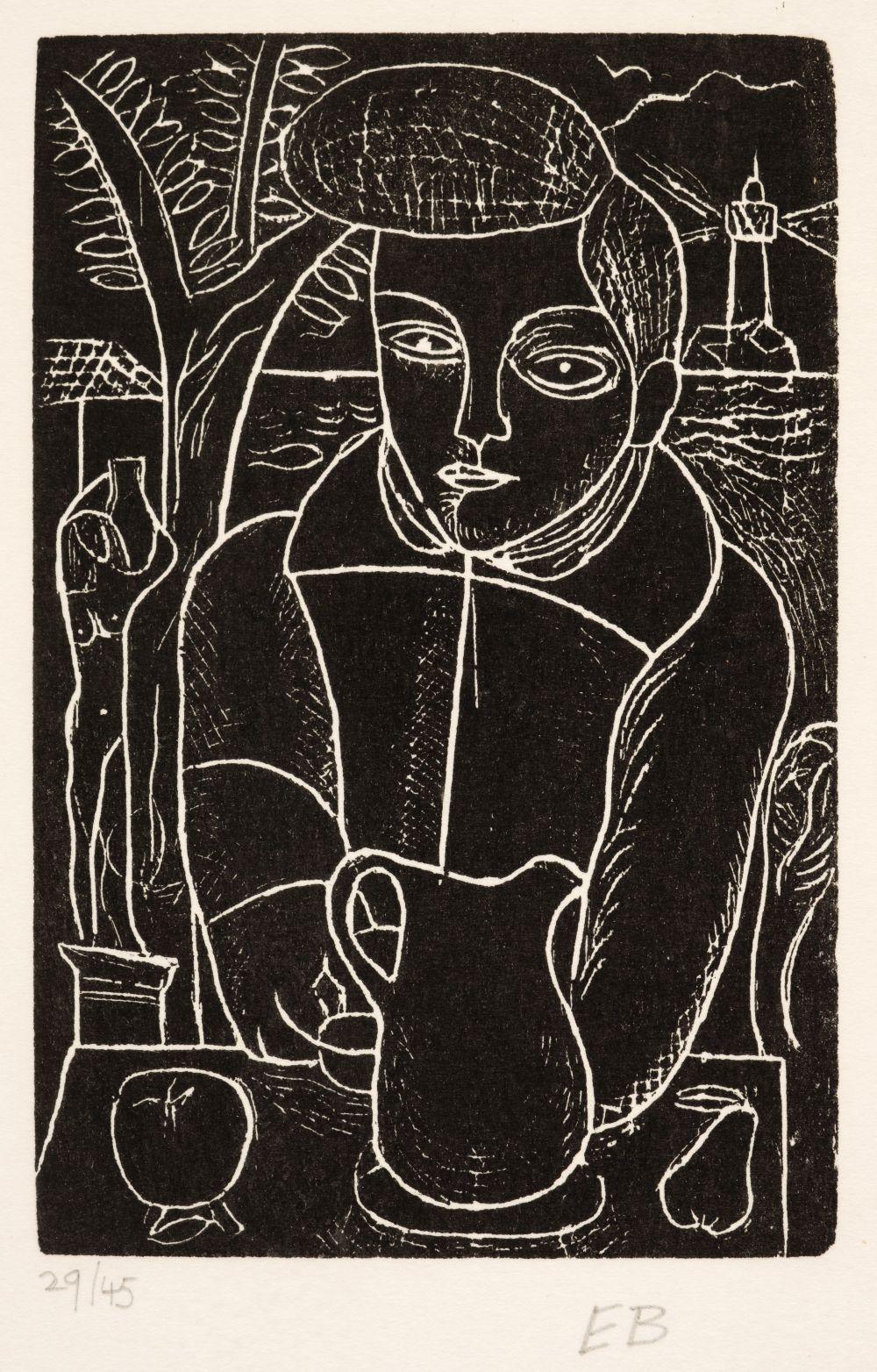 ARR * § Burra (Edward, 1905-1976). Boy with a Jug, circa 1928-29