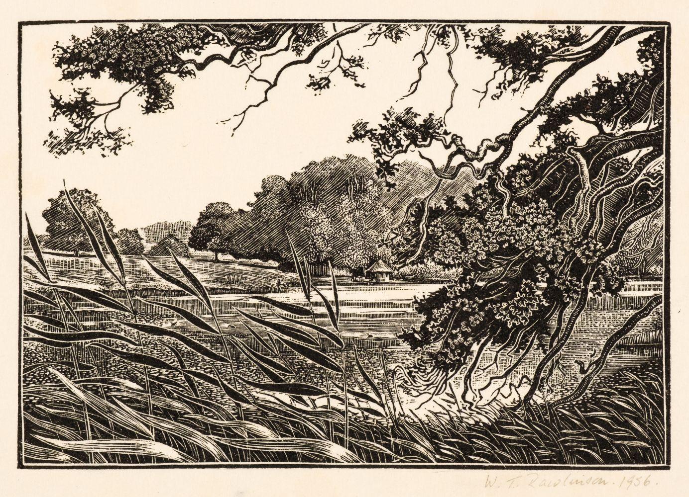 * Rawlinson (William Thomas, 1912-1993). The Lake, Ragley, near Alcester, 1956