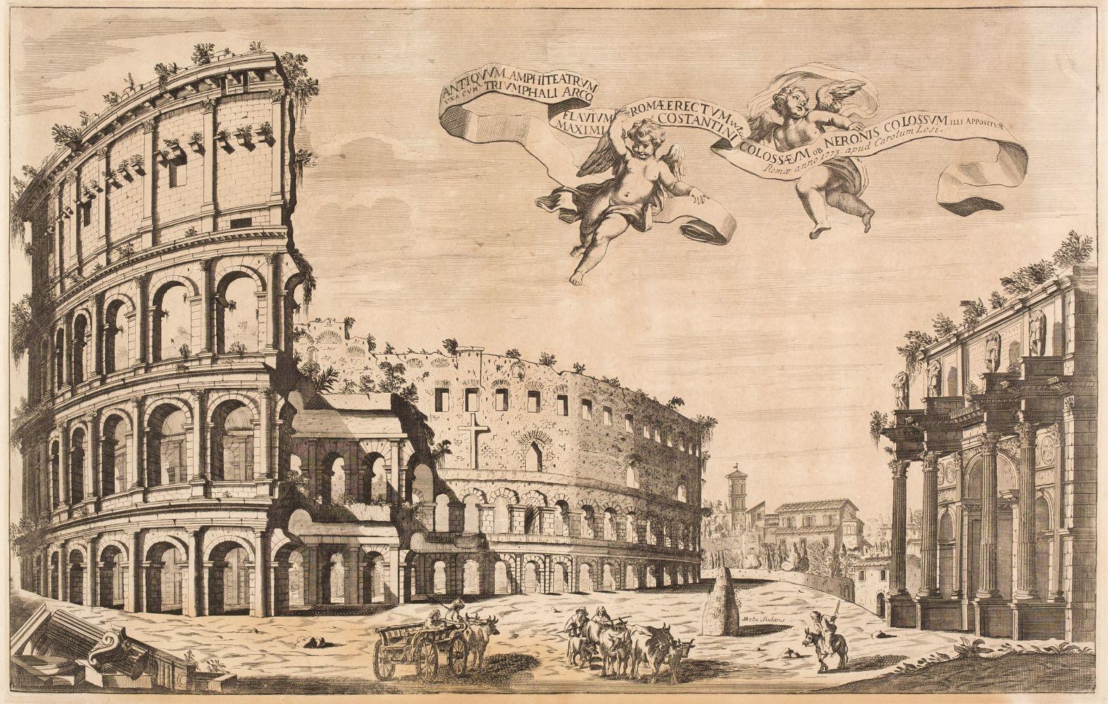 * Girelli (Pietro Paolo, circa 1685-circa 1750). Two etchings, 1773 - Image 2 of 2