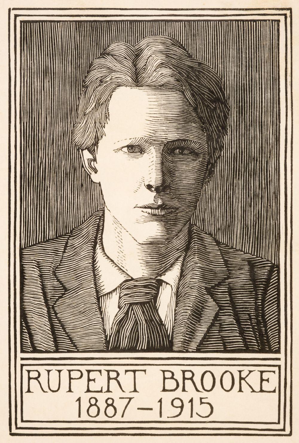 ARR * § Raverat (Gwen, 1885-1957). Portrait for the Poems of Rupert Brooke, 1919