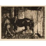 ARR * § Blampied (Edmund, 1886-1966). Returning to the Stable, 1920