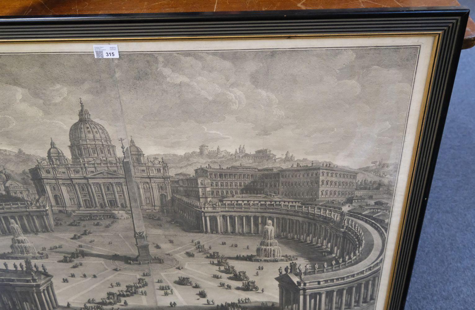 * Vasi (Giuseppe, 1710-1782). Prospetto principale del Tempio e Piazza di S. Pietro, 1774 - Image 6 of 6
