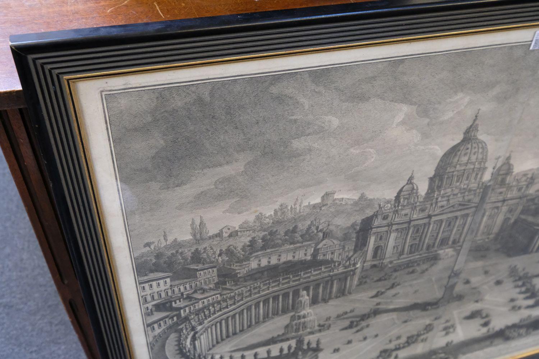 * Vasi (Giuseppe, 1710-1782). Prospetto principale del Tempio e Piazza di S. Pietro, 1774 - Image 3 of 6