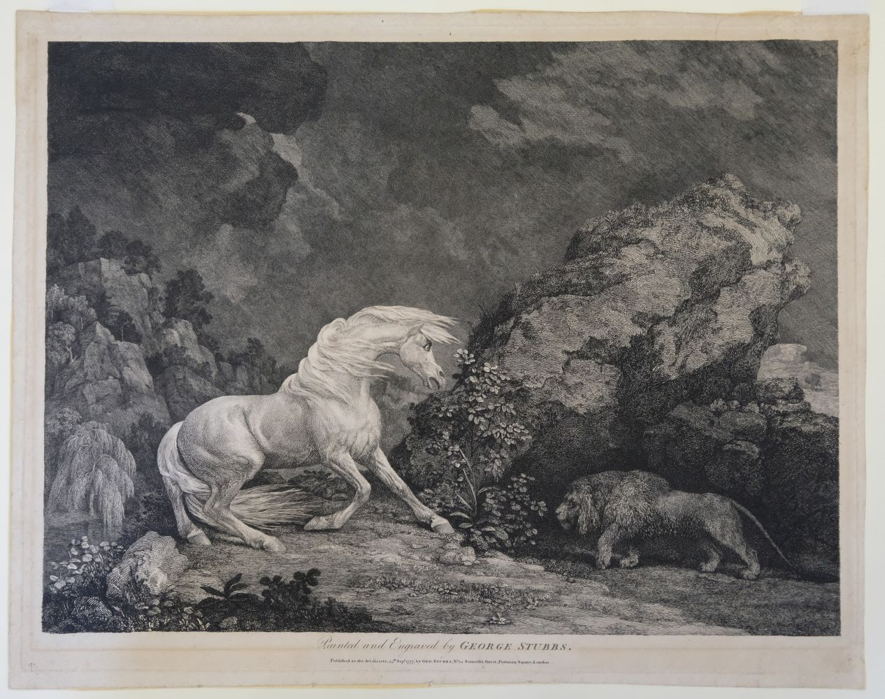 * Stubbs (George). A Horse Affrighted by a Lion, 1777 - Image 5 of 9