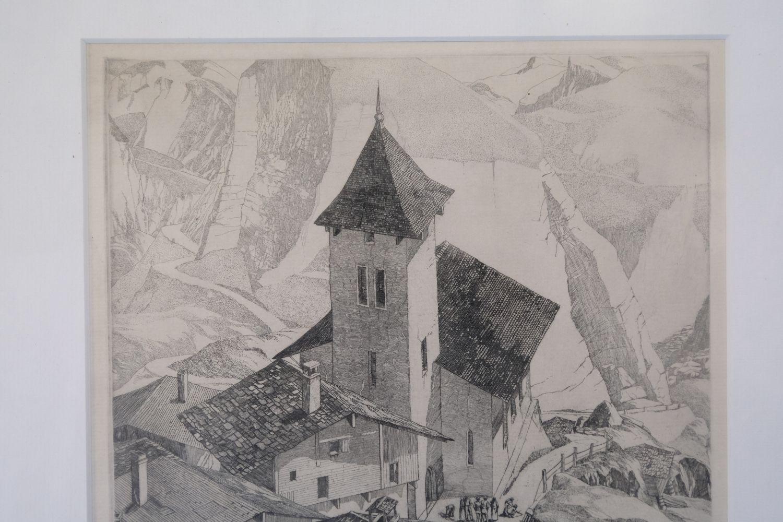 ARR * § Beaumont (Leonard 1891-1986). Italian Mountain Village - Image 4 of 4