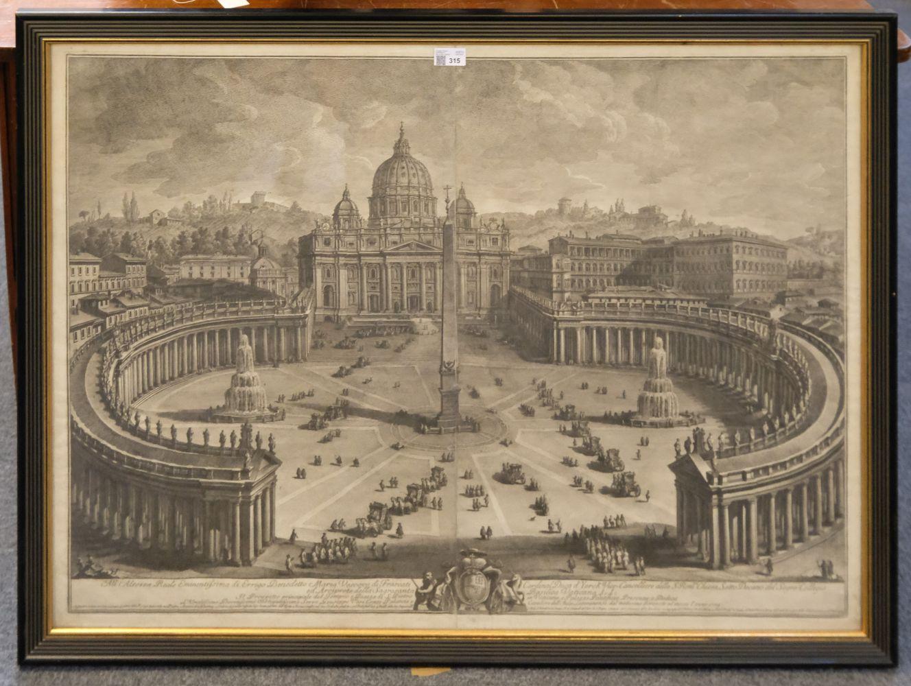 * Vasi (Giuseppe, 1710-1782). Prospetto principale del Tempio e Piazza di S. Pietro, 1774 - Image 2 of 6