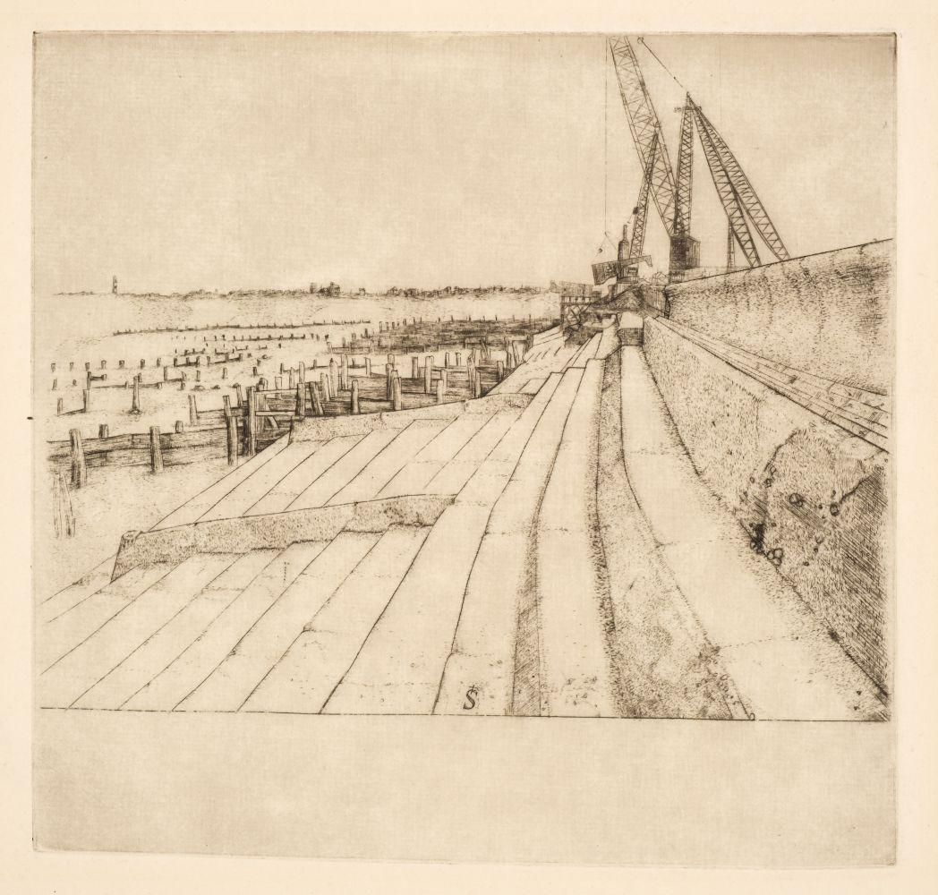 * Strang (Ian, 1886-1952). Place St André des Arts, Paris - Image 2 of 2