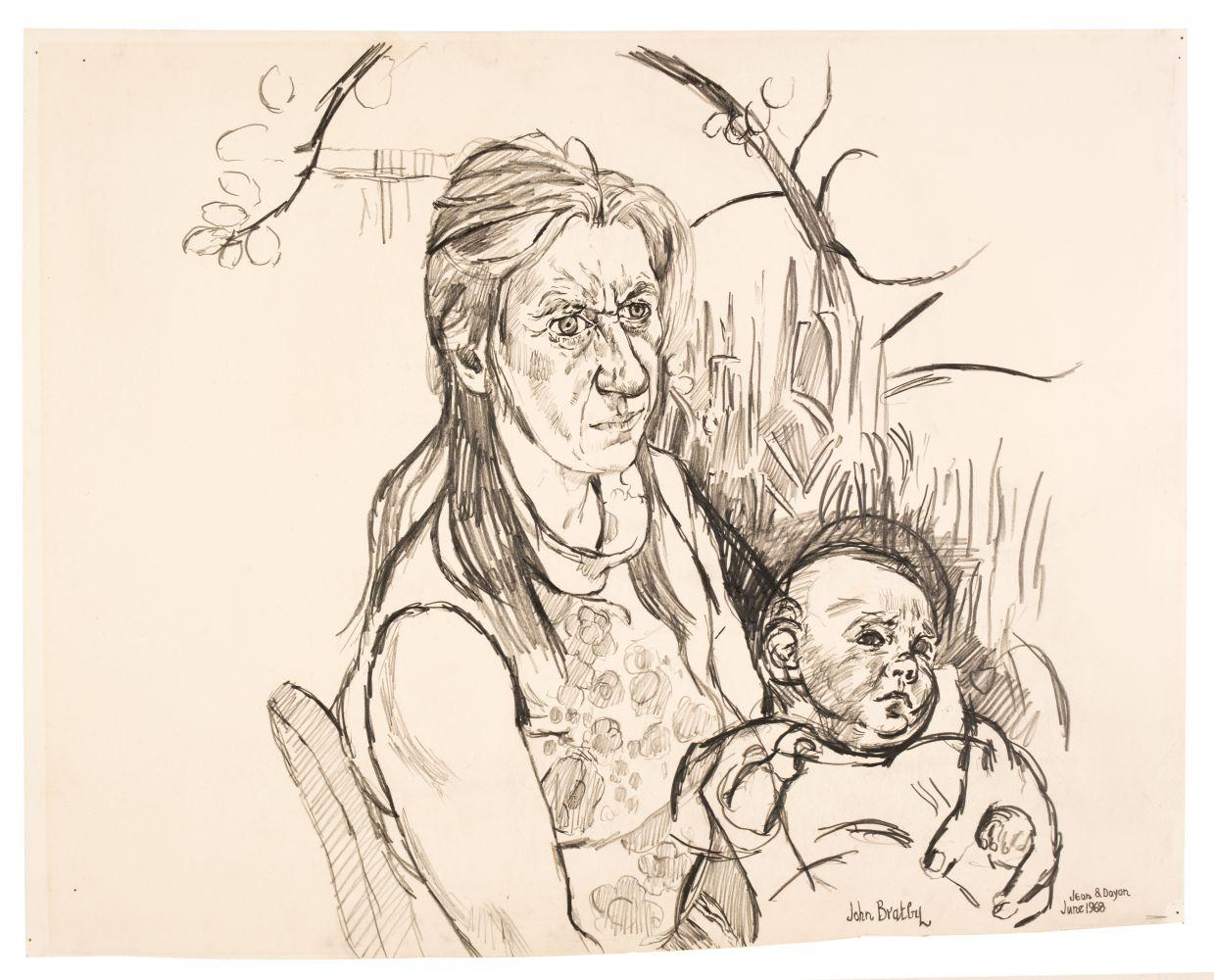 ARR * § Bratby (John Randall, 1928-1992). Jean & Dayan, June 1968