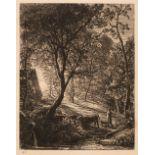 * Palmer (Samuel, 1805-1881). The Herdsman's Cottage or Sunset, 1850