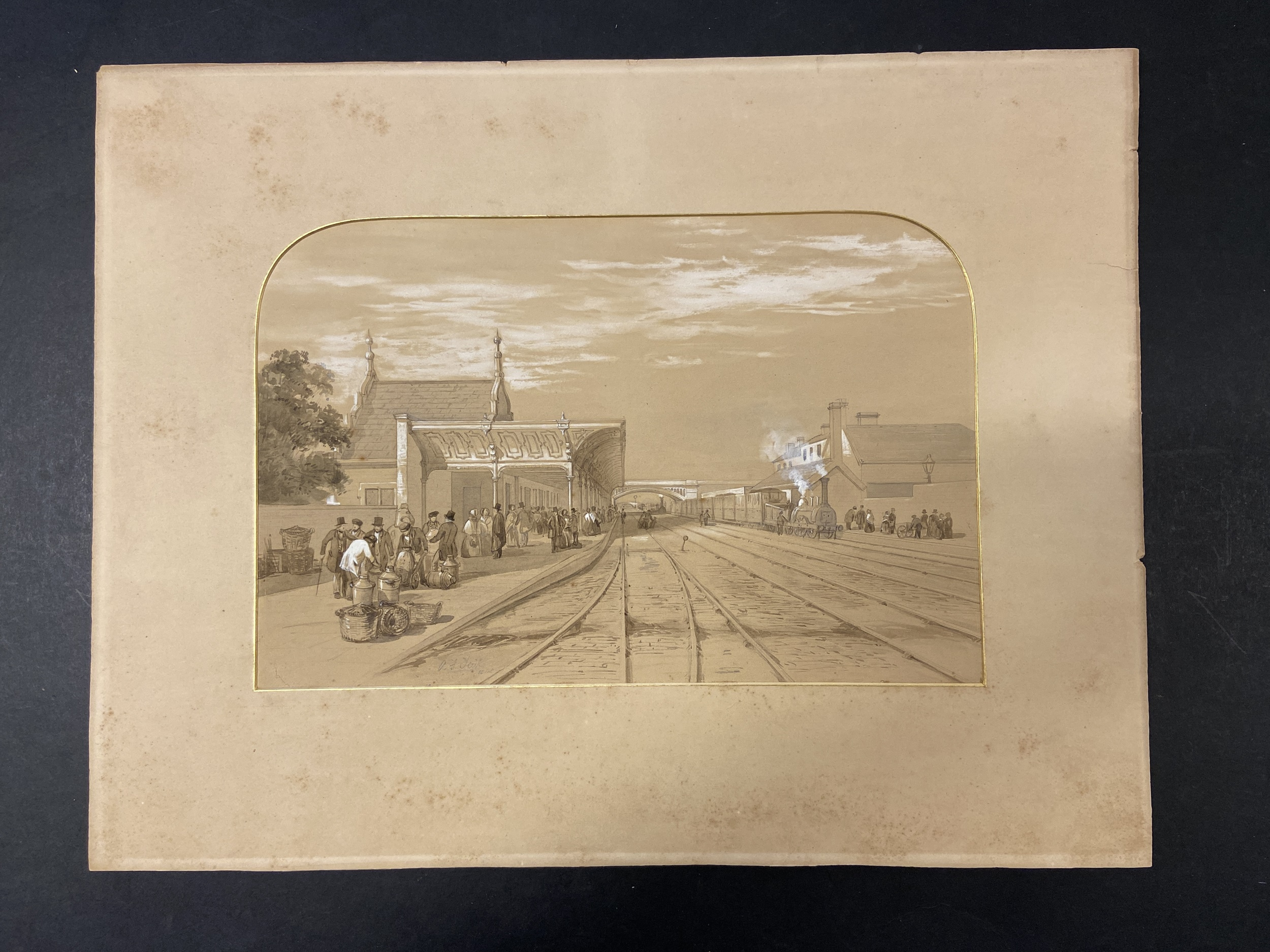 * Tait (Arthur Fitzwilliam). 7 watercolours from Views on the Manchester & Leeds Railway - Image 4 of 7