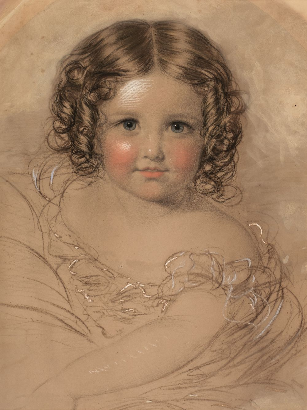 * English School. Portrait of a young girl