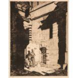 ARR * § Flint (William Russell, 1880-1969). Doorway, Concarneaux, 1929