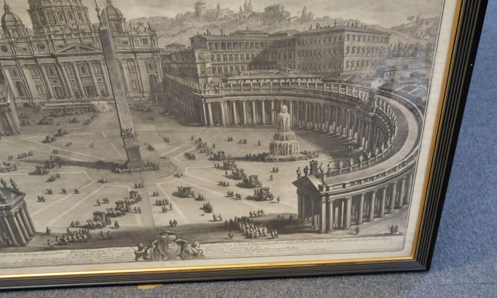 * Vasi (Giuseppe, 1710-1782). Prospetto principale del Tempio e Piazza di S. Pietro, 1774 - Image 5 of 6