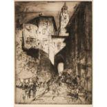 ARR * § Brangwyn (Frank, 1867-1956). Street in Puy, circa 1913