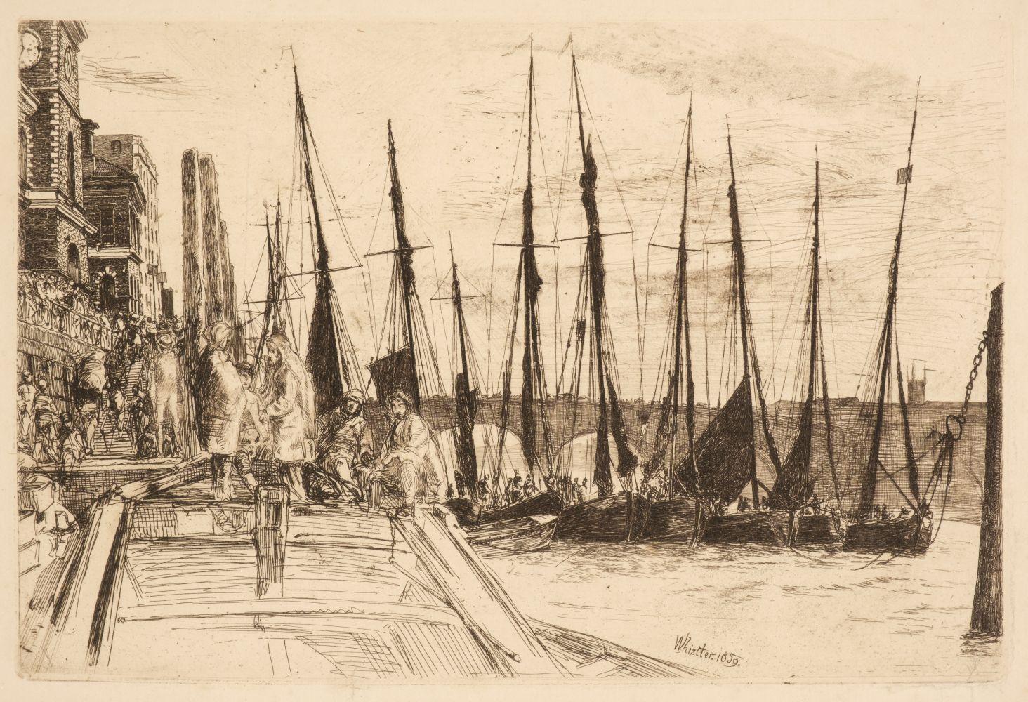 * Haden (Francis Seymour, 1818-1910). Battersea Reach, 1863 - Image 2 of 2