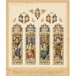 * Clayton & Bell (Stained Glass). Design for a 4-panel stained glass window, 1913