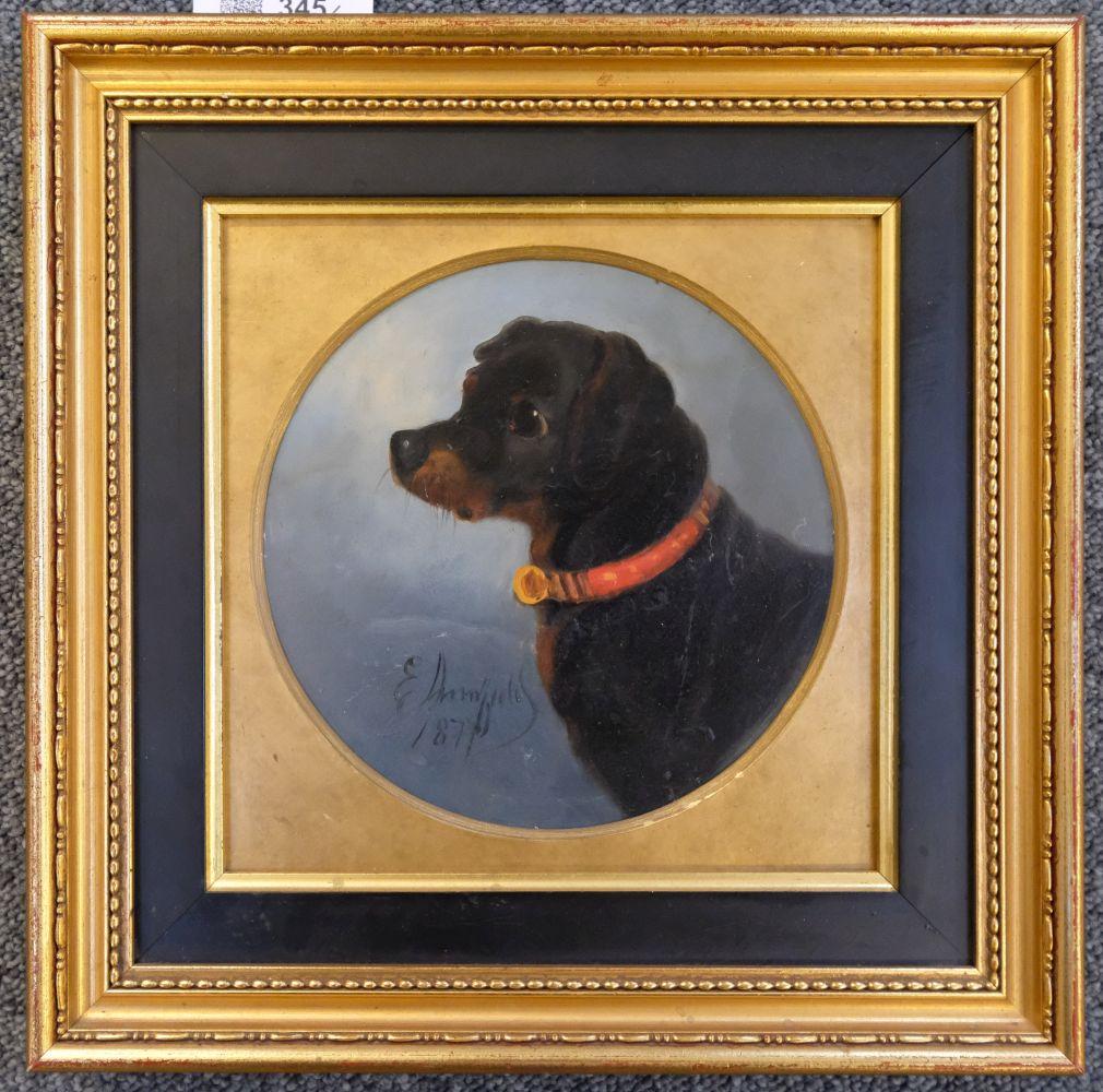 * Armfield (Edward). Portrait of a Black & Tan Terrier, 1877 - Image 2 of 5