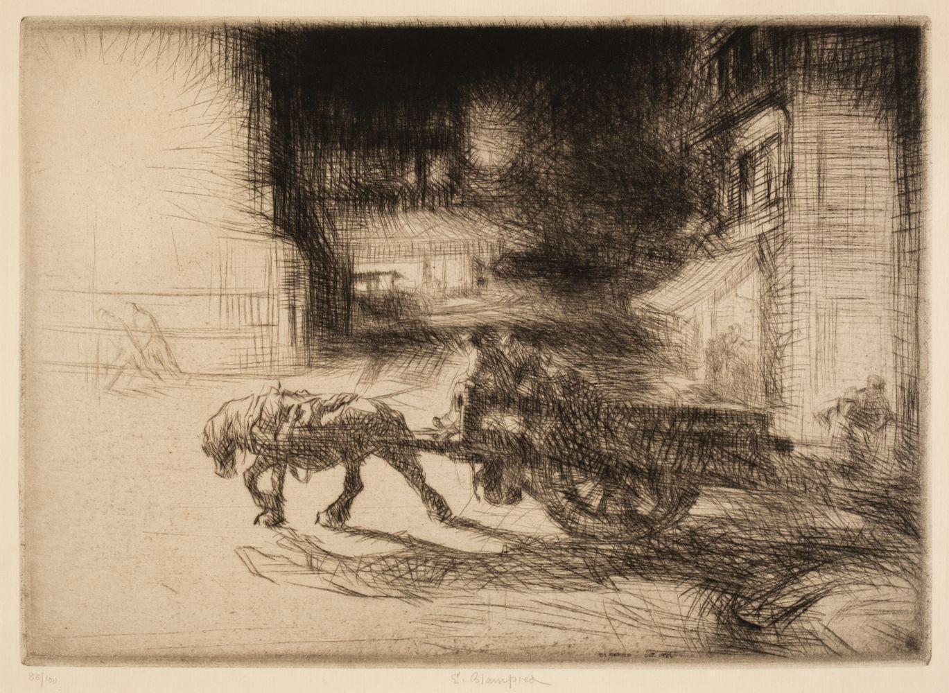 ARR * § Blampied (Edmund, 1886-1966). Night Time