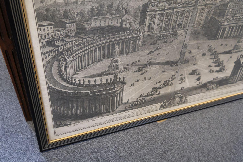 * Vasi (Giuseppe, 1710-1782). Prospetto principale del Tempio e Piazza di S. Pietro, 1774 - Image 4 of 6