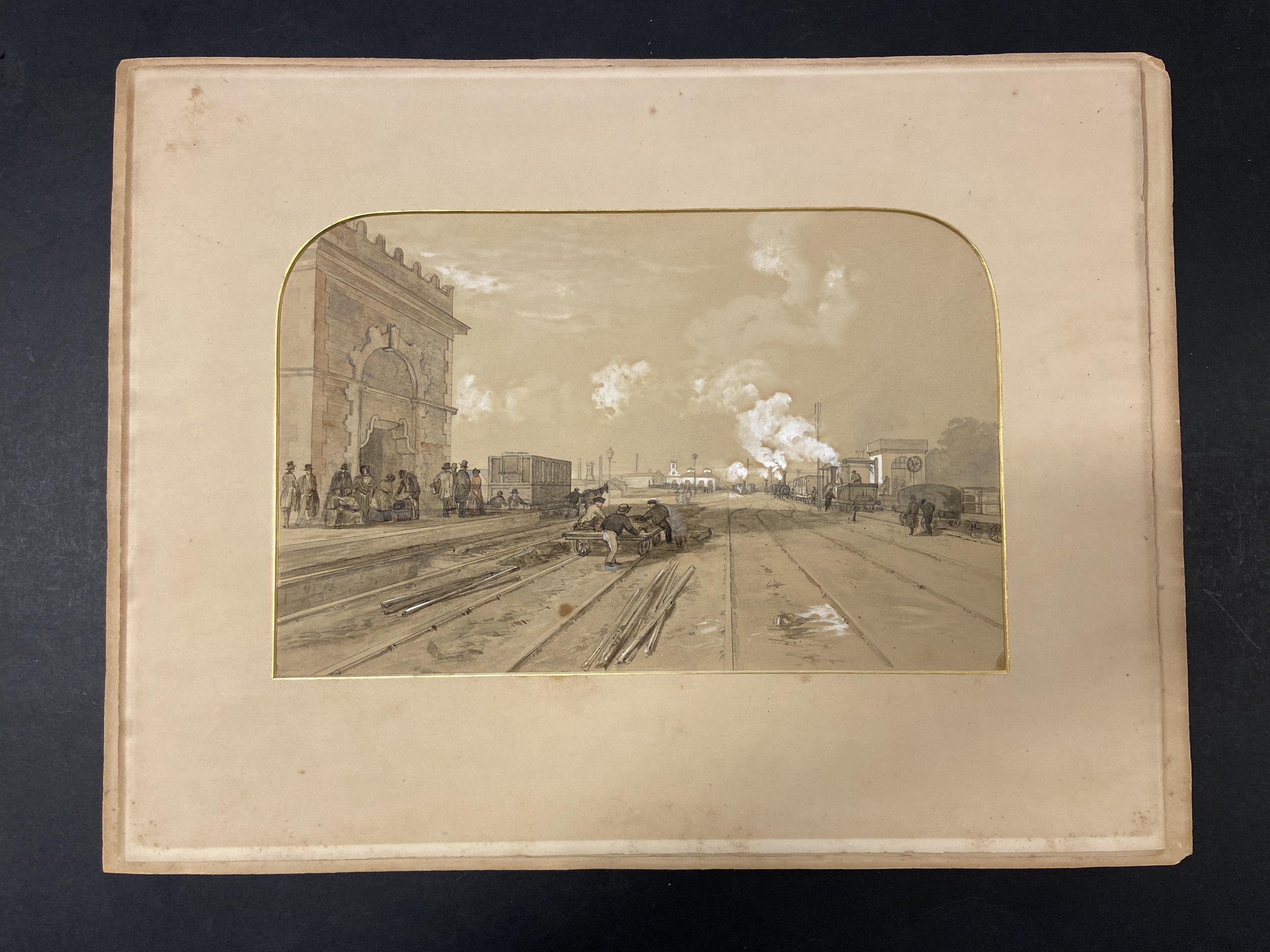 * Tait (Arthur Fitzwilliam). 7 watercolours from Views on the Manchester & Leeds Railway - Image 3 of 7