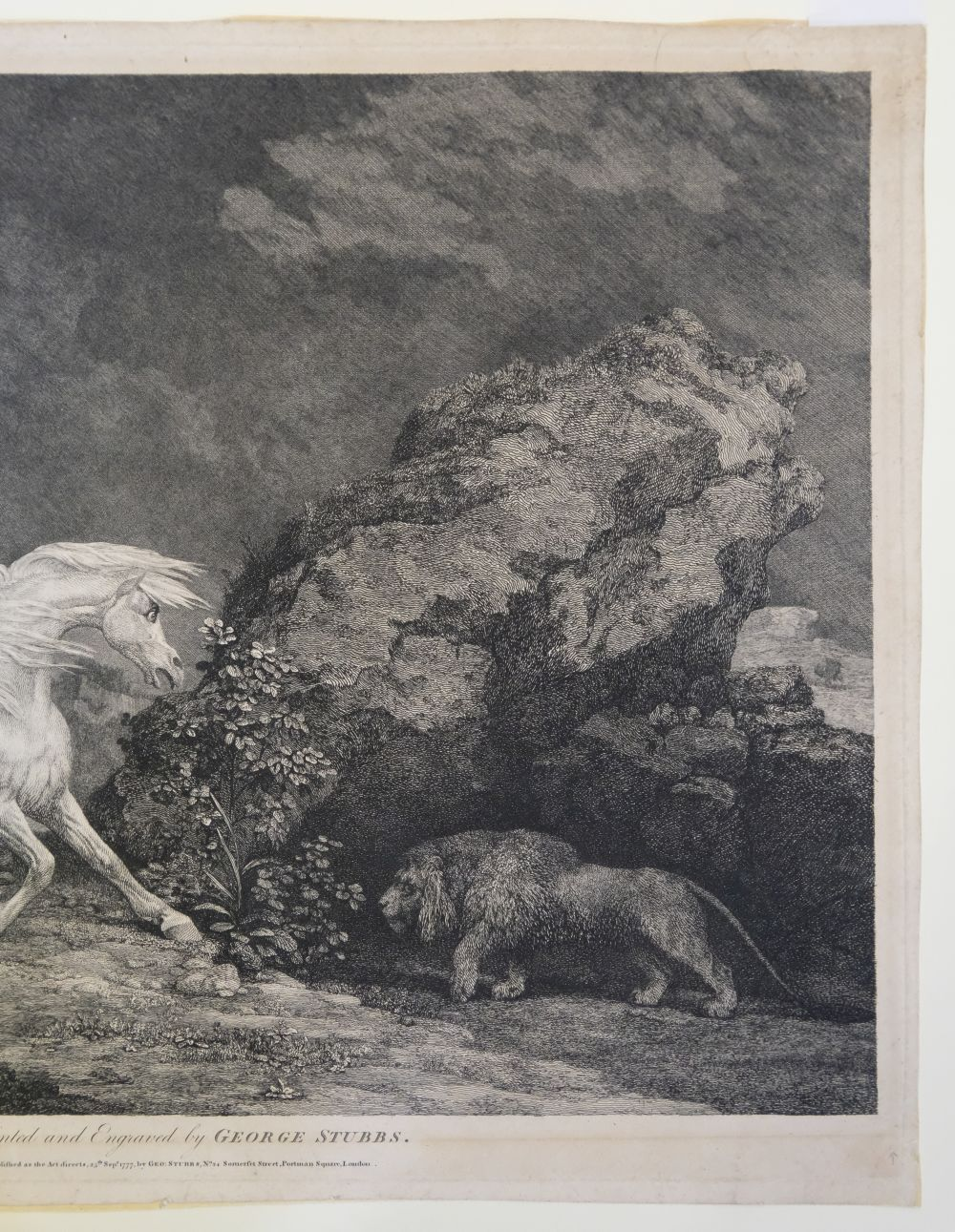 * Stubbs (George). A Horse Affrighted by a Lion, 1777 - Image 4 of 9