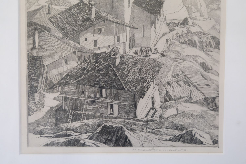 ARR * § Beaumont (Leonard 1891-1986). Italian Mountain Village - Image 3 of 4