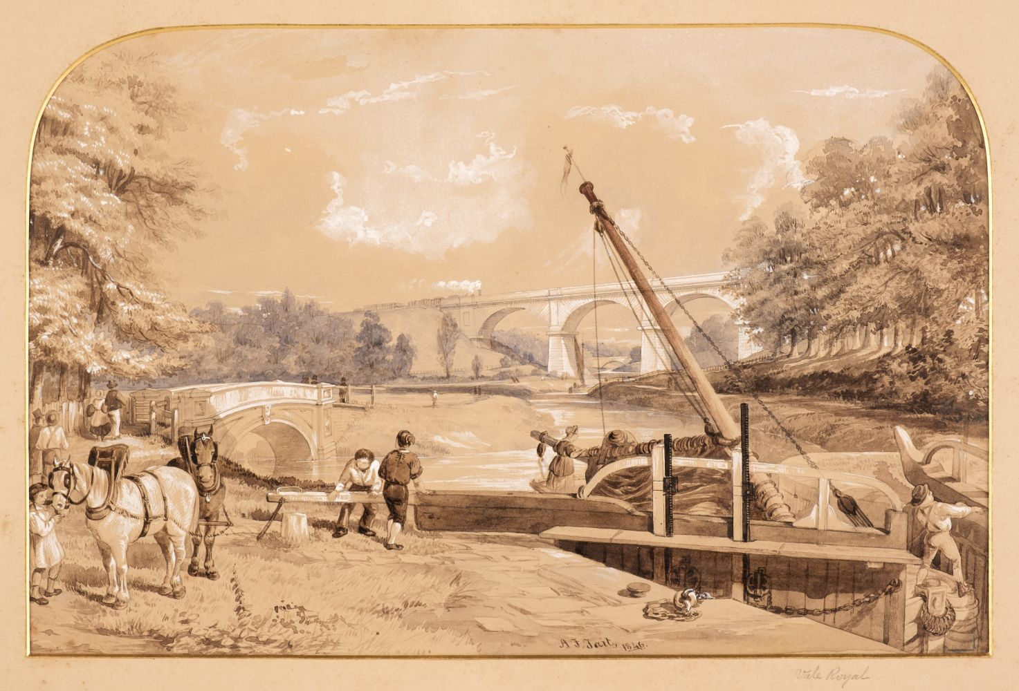 * Tait (Arthur Fitzwilliam). 7 watercolours from Views on the Manchester & Leeds Railway - Image 2 of 7