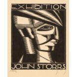 * Storrs (John Bradley, 1885-1956). Exhibition John Storrs, 1927, woodcut