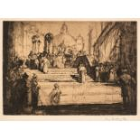 * Brangwyn (Frank, 1867-1956). A Venetian Procession, 1919, and others