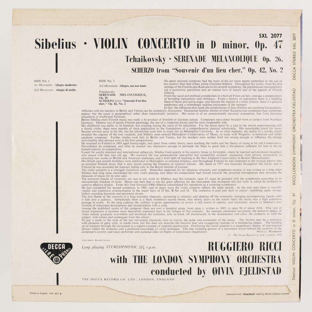 * Ricci (Ruggiero). Collection of Decca SXL classical records, including SXL 2077, 2197, 2004 & 05 - Image 3 of 11
