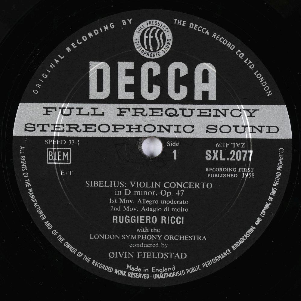 * Ricci (Ruggiero). Collection of Decca SXL classical records, including SXL 2077, 2197, 2004 & 05 - Image 2 of 11