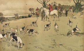 * Aldin (Cecil). The Fallowfield Hunt - The Check, circa 1900
