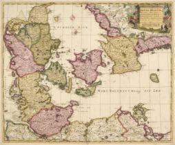 Denmark. Schenk (Petrus), Dania Regnum Ducatus Holsatia..., Amsterdam, 1706
