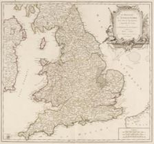 England & Wales. De Vaugondy (Robert), Le Royaume D'Angleterre..., Paris, 1753