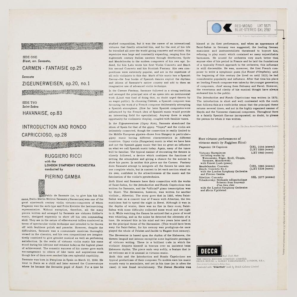 * Ricci (Ruggiero). Collection of Decca SXL classical records, including SXL 2077, 2197, 2004 & 05 - Image 5 of 11