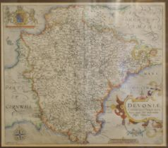 * Devon. Saxton (Christopher & Kip William), Devoniae comitatus vulgo Denshyre, 1610