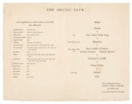 Polar Menus. A group of 19 menus, 1933/59
