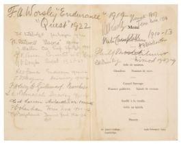 Polar Menus. A group of 5 menus, 1929/59