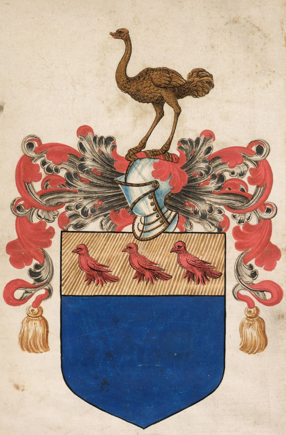 * Wray (Sir Christopher, c. 1522-1592). Patent of Arms by Robert Cooke, 1586 - Image 2 of 2