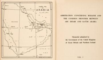 Abu Dhabi. Arbitration Concerning Buraimi and the Common Frontier Between Abu Dhabi and Sa'udi