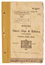 North-West Frontier. Routes in Chitral, Gilgit & Kohistan, 4th edition, 1942