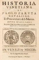 Paruta (Paolo). Historia Vinetiana, 2 parts in 1m, 1703
