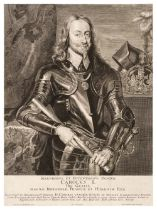 * De Jode (Pieter, 1603-circa 1674). King Charles I and Queen Henrietta Maria, after van Dyck,