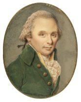 * Continental School. Oval portrait miniature of a gentleman, circa 1780-1790
