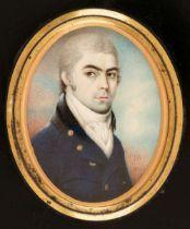 * Bogle (John, circa 1746-1803). Oval portrait miniature of a young gentleman, 1800