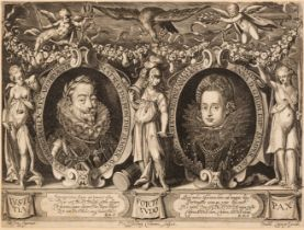* Isselburg (Peter, circa 1568/1580-1630). Double Portrait of the Holy Roman Emperor Matthias and
