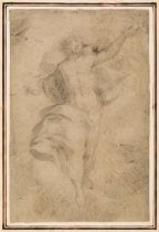 * Lanfanco, Giovanni (1582-1647), Attributed to. A Study for the Transfiguration, black chalk