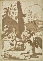 * Mola (Pierfrancesco, 1612-1666). The Rest on the Flight into Egypt