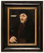 * Holbein (Hans). Portrait of Erasmus, circa 1550, oil on wood panel